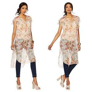 Vince Camuto Wildflower Print Long Tunic